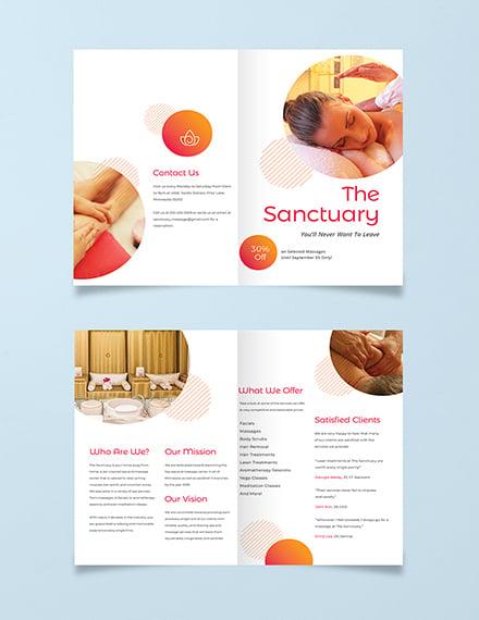 Massage Therapy Bi-Fold Brochure Template