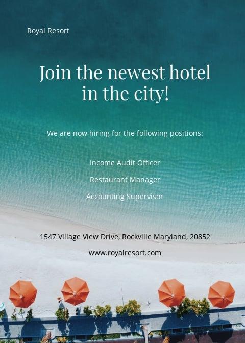 Royal Resort Announcement Template
