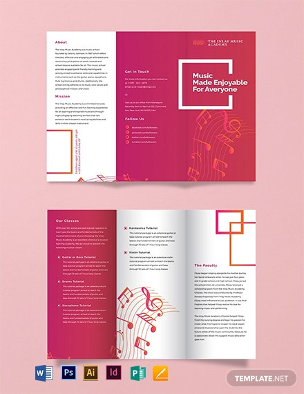 Music Tri-Fold Brochure Template