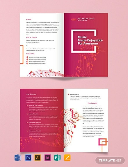 Music BiFold Brochure Template