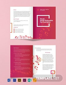 Music Bi-Fold Brochure Template