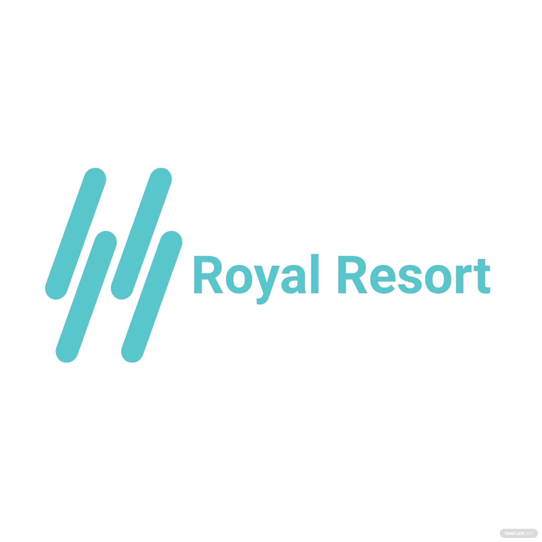 Royal Resort Logo Template [Free JPG] - Illustrator, InDesign, Word, Apple Pages, PSD, Publisher