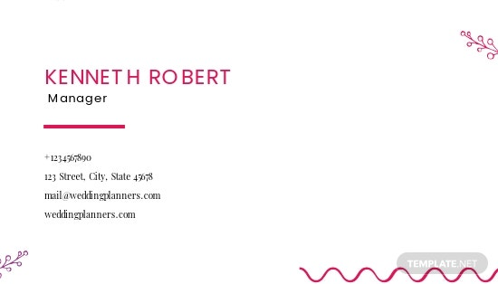 Wedding Planners Business Card Template 1.jpe