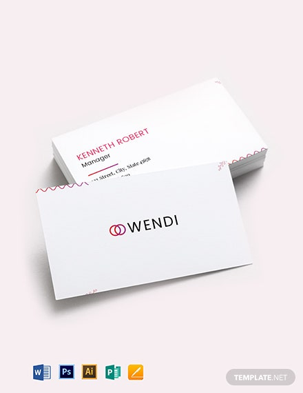 Wedding Planners Business Card Template
