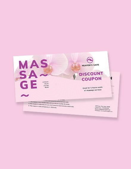 Massage Coupon Template