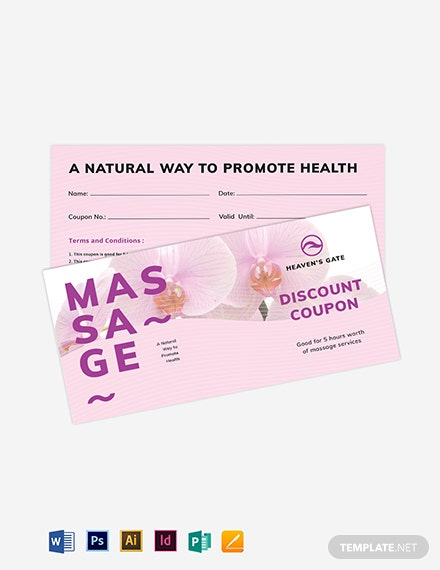 Massage Coupon Template