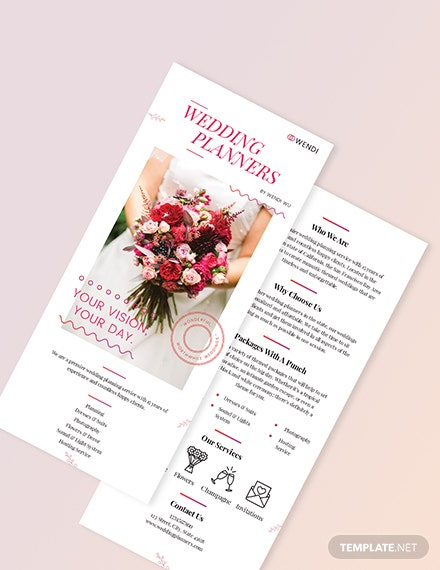 Sample Wedding Planners DL Card