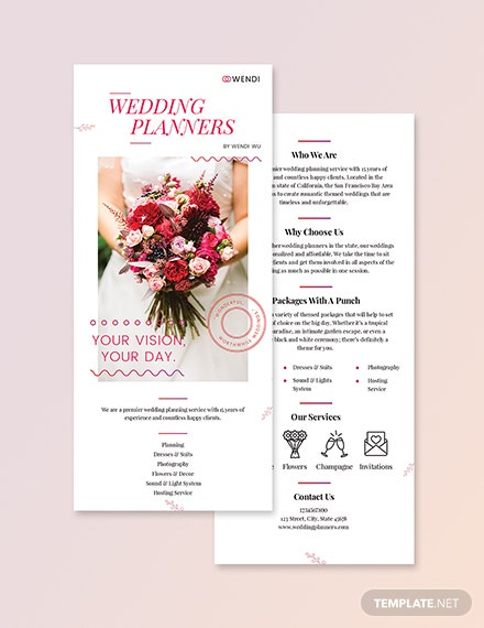 Wedding Planners DL Card Download