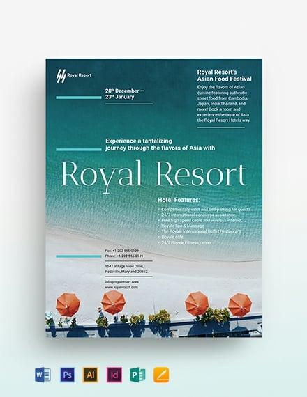 Royal Resort Flyer Template