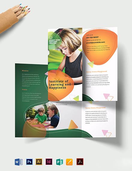Preschool TriFold Brochure Template