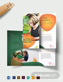 Preschool Tri-Fold Brochure Template