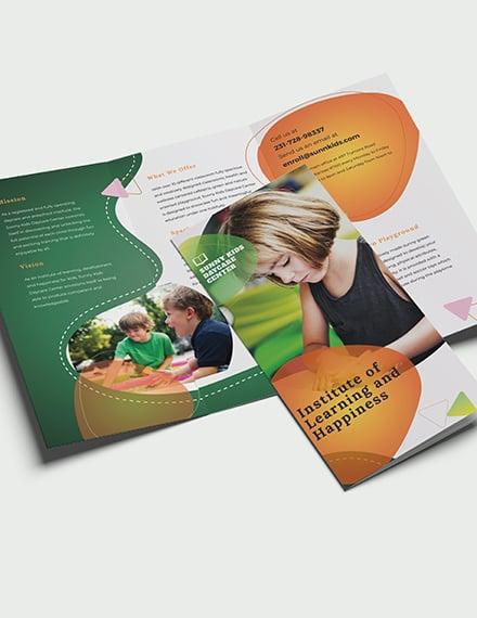 Sample Preschool TriFold Brochure