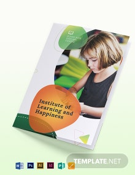Preschool Bi-Fold Brochure Template