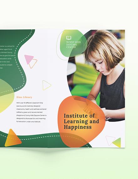 Sample Preschool BiFold Brochure