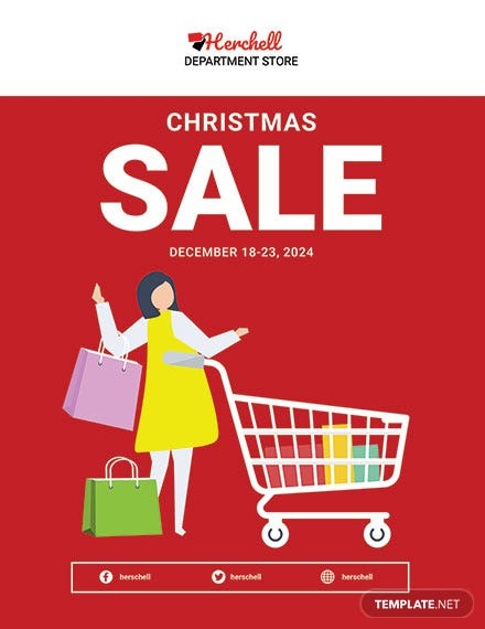 Free Christmas Sale Poster Template