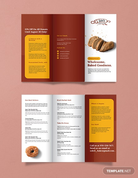 product tri fold brochure template 440