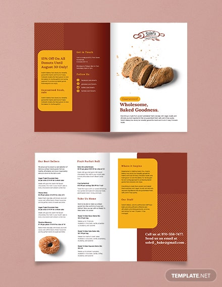 Product Bi-Fold Brochure Template