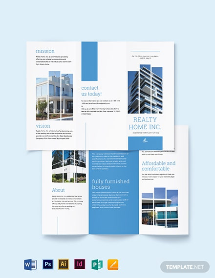 Realtor Tri-Fold Brochure Template