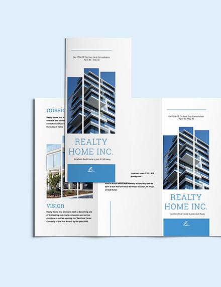 Sample Realtor TriFold Brochure