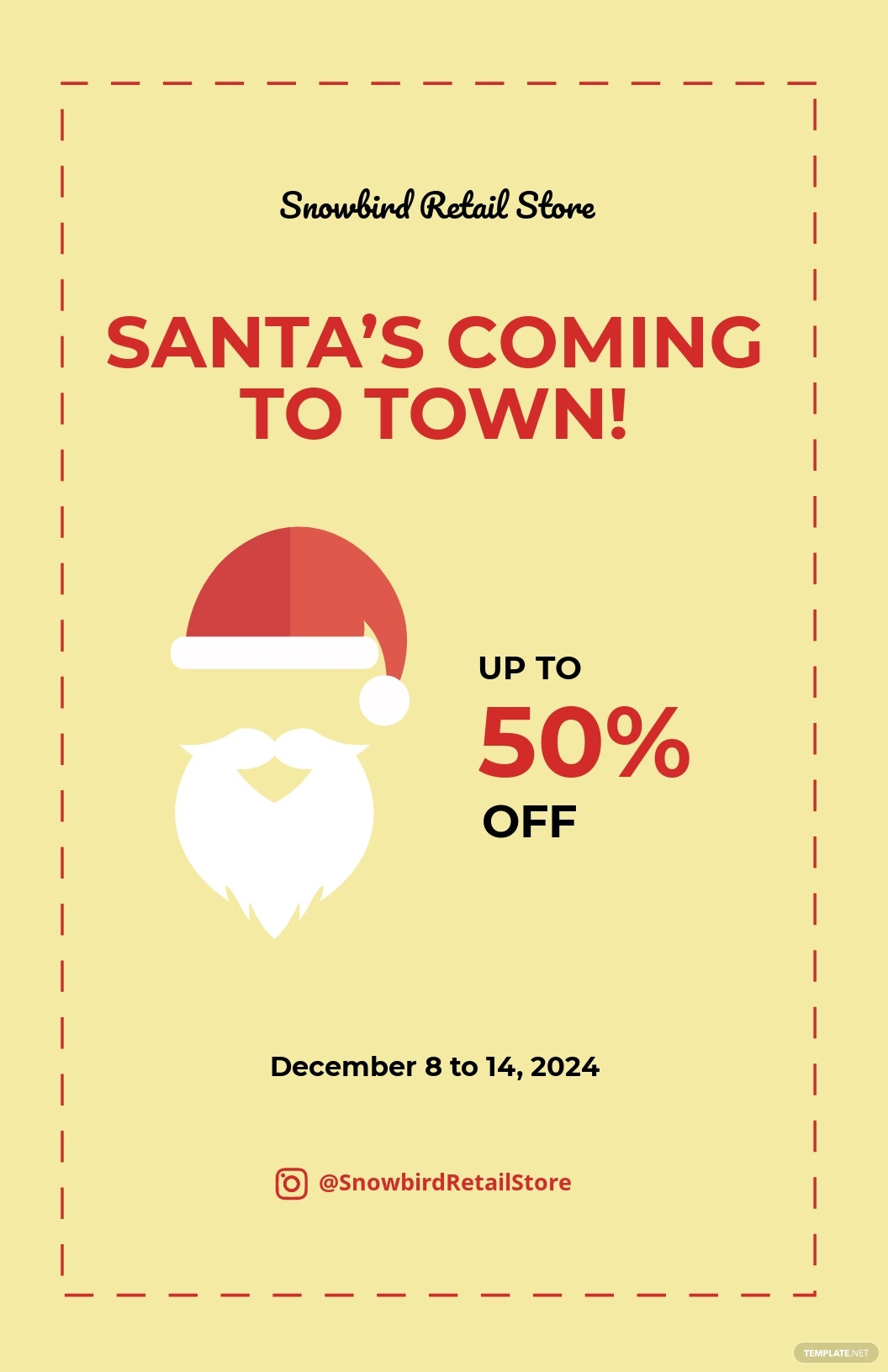 Christmas Santa Sale Poster Template