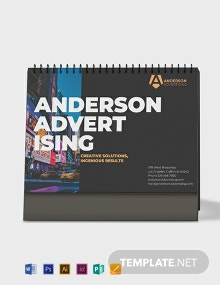 Advertising agency Desk Calendar Template
