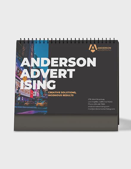 Advertising agency Desk Calendar Template