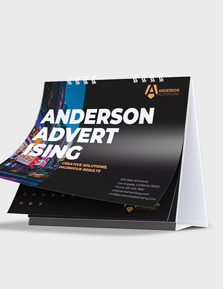Sample Advertising agency Desk Calendar