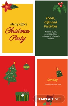 Free Office Holiday Party Poster Template