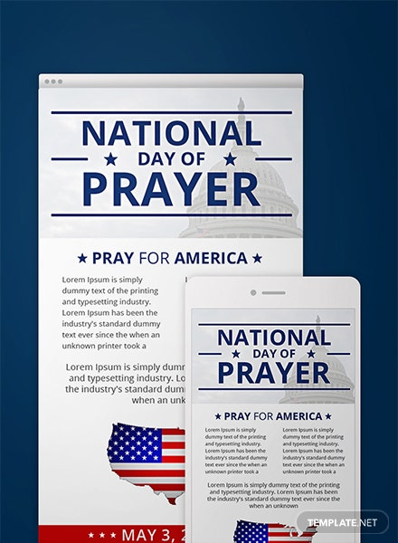 free national day of prayer email newsletter template download 39