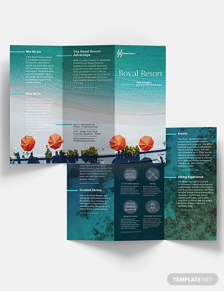 Royal Resort Trifold Brochure Download