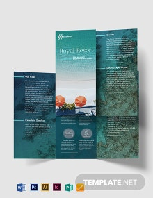 Royal Resort Tri-Fold Brochure Template