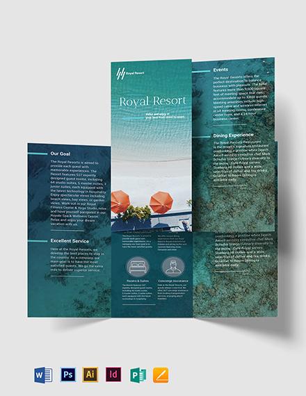 Royal Resort Tri-Fold Brochure Template
