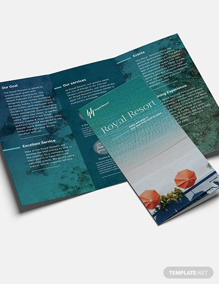 Sample Royal Resort Trifold Brochure