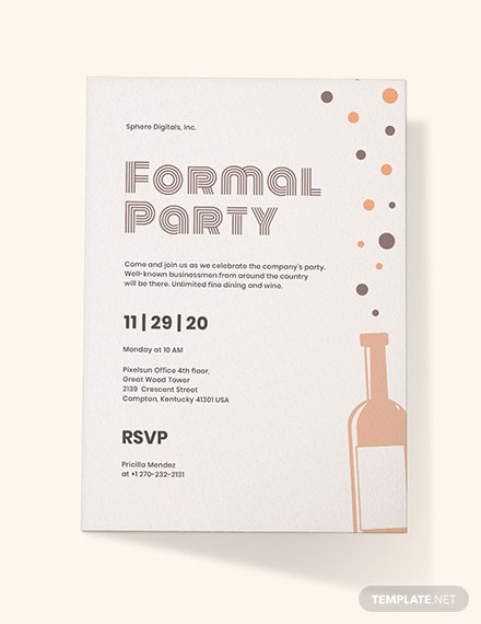 Formal Party Invitation Download