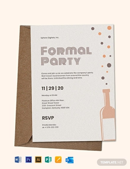 Formal Party Invitation Template