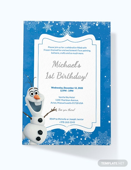 Frozen Birthday Invitation Download