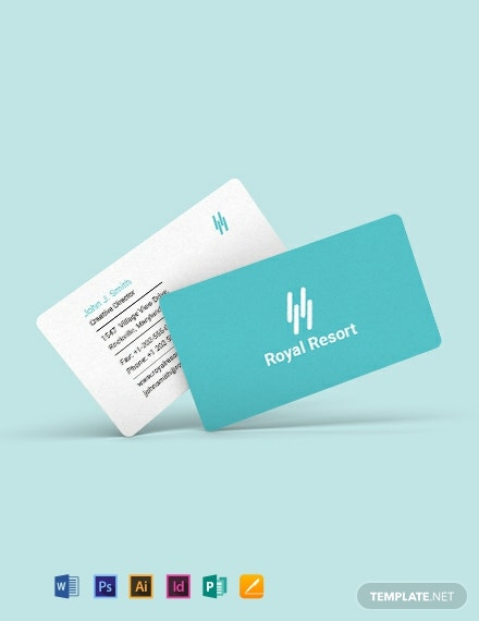 Royal Resort Business Card Template