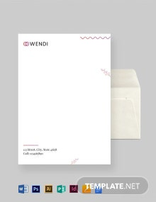 Wedding Planners Envelope Template