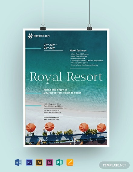 Royal Resort Poster Template