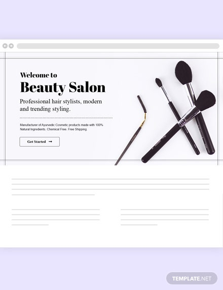 Beauty Care Blog Header Template