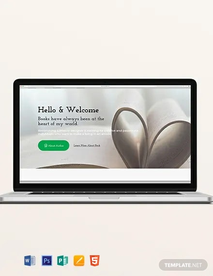 Book Author Blog Header Template
