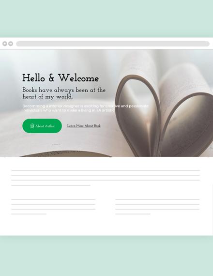 Free Book Author Blog Header Template