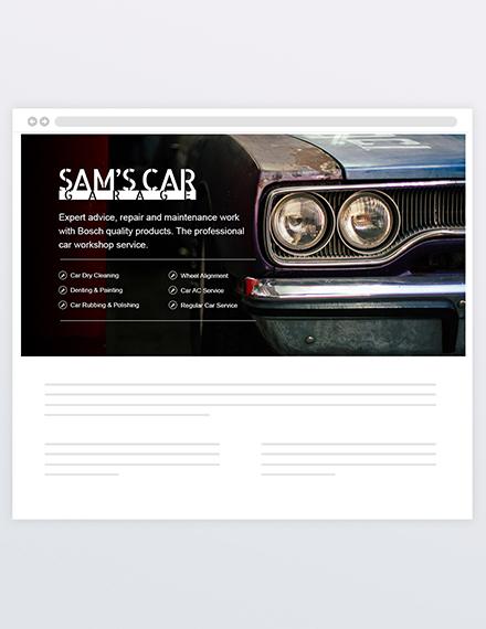 Sample Car Mechanic Header