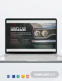 Car Mechanic Header Template