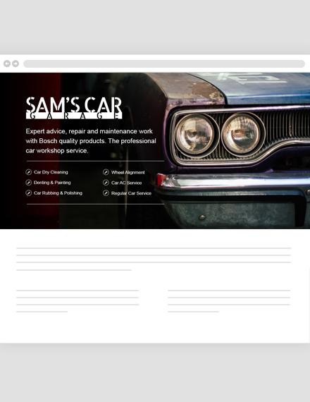 Car Mechanic Header Template