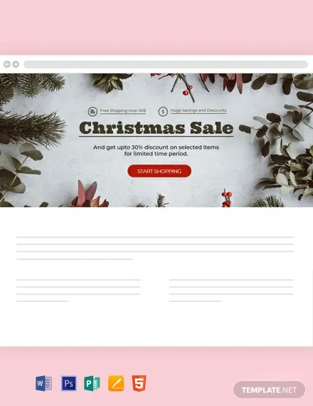 Free Christmas Blog Header Template