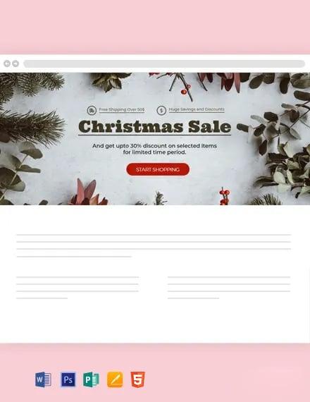 Free Christmas Blog Header Template
