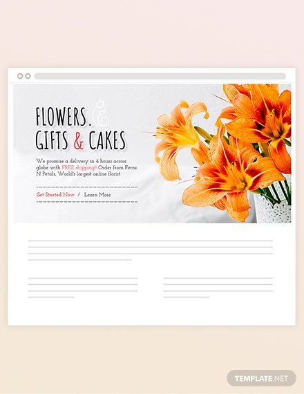 Sample Florist Blog Header
