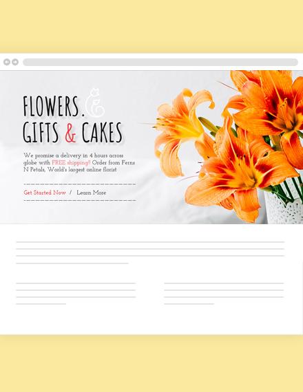 Florist Blog Header Template