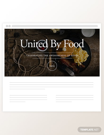 Sample Food Blog Header